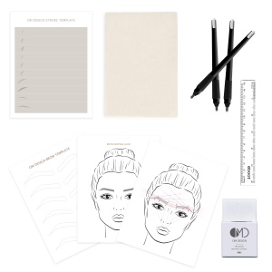 omd brow mapping template om design stroke template