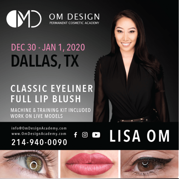 DALLAS PERMANENT EYELINER AND PERMANENT LIP BLUSH TRAINING